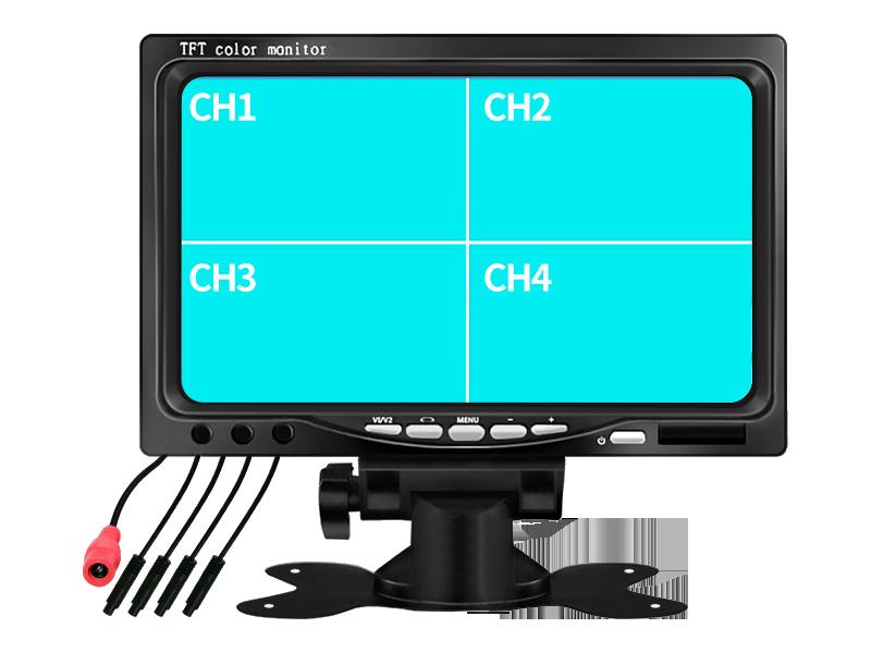 Combo 2 camera cập lề trái phải + màn hình 7in 800x480