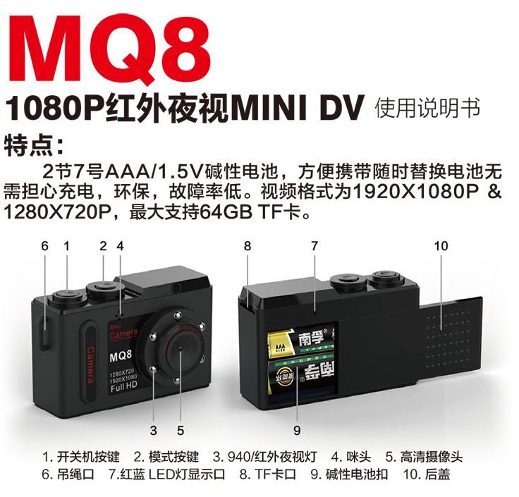 Camera hành trình siêu nhỏ MQ8 FHD 1080P mini