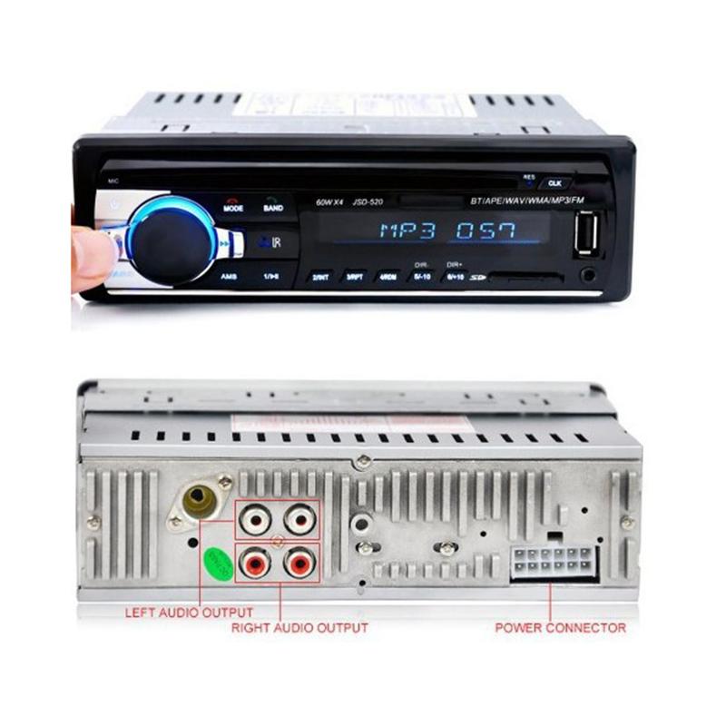 Đầu 1 Din MP3 Bluetooth đài FM Ô Tô JSD-520